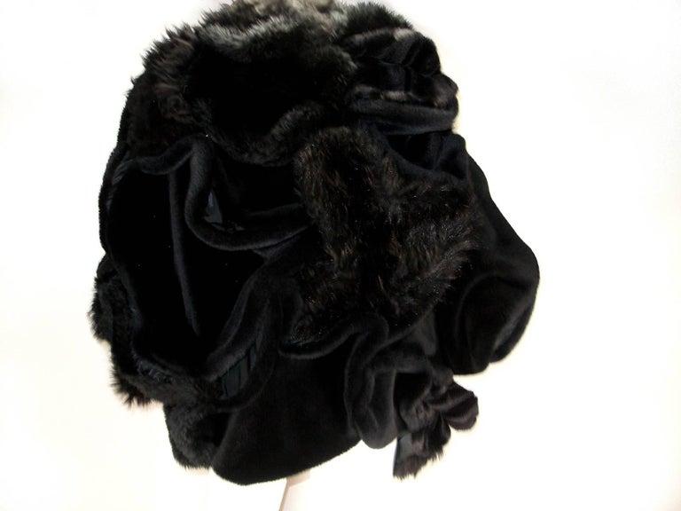 Collectible Piéce Junya Watanabe Comme des Garçons Fake Fur Cape Boléro M Size For Sale 3