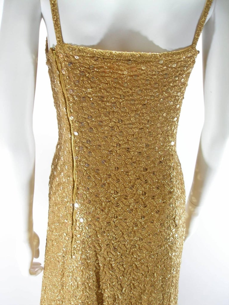 Chanel Haute Couture Vintage Suite Gold Cloque Embroidered Sequins, 1977  For Sale 5