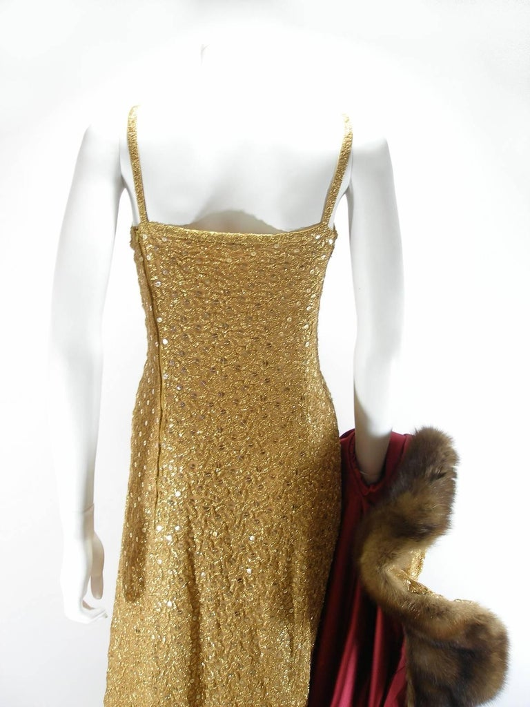Chanel Haute Couture Vintage Suite Gold Cloque Embroidered Sequins, 1977  For Sale 4