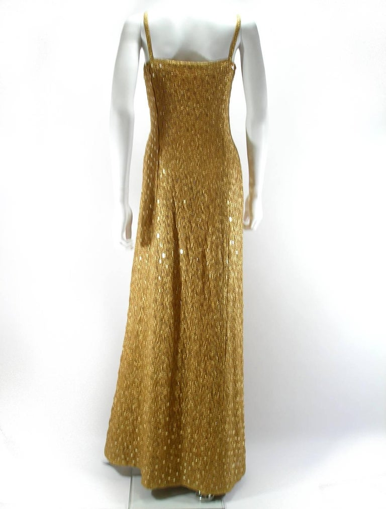Chanel Haute Couture Vintage Suite Gold Cloque Embroidered Sequins, 1977  For Sale 1