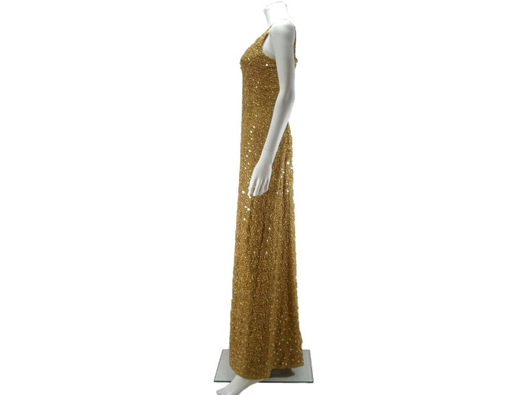 Chanel Haute Couture Vintage Suite Gold Cloque Embroidered Sequins, 1977  For Sale 2