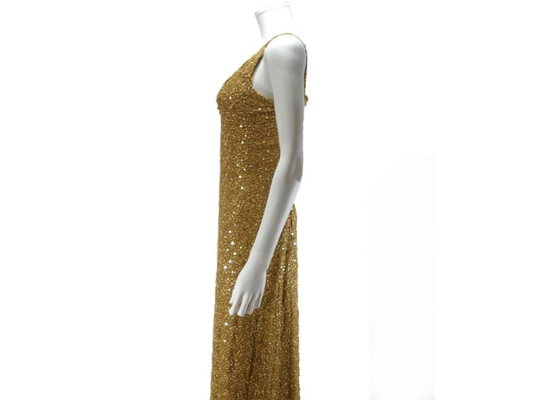 Chanel Haute Couture Vintage Suite Gold Cloque Embroidered Sequins, 1977  For Sale 3