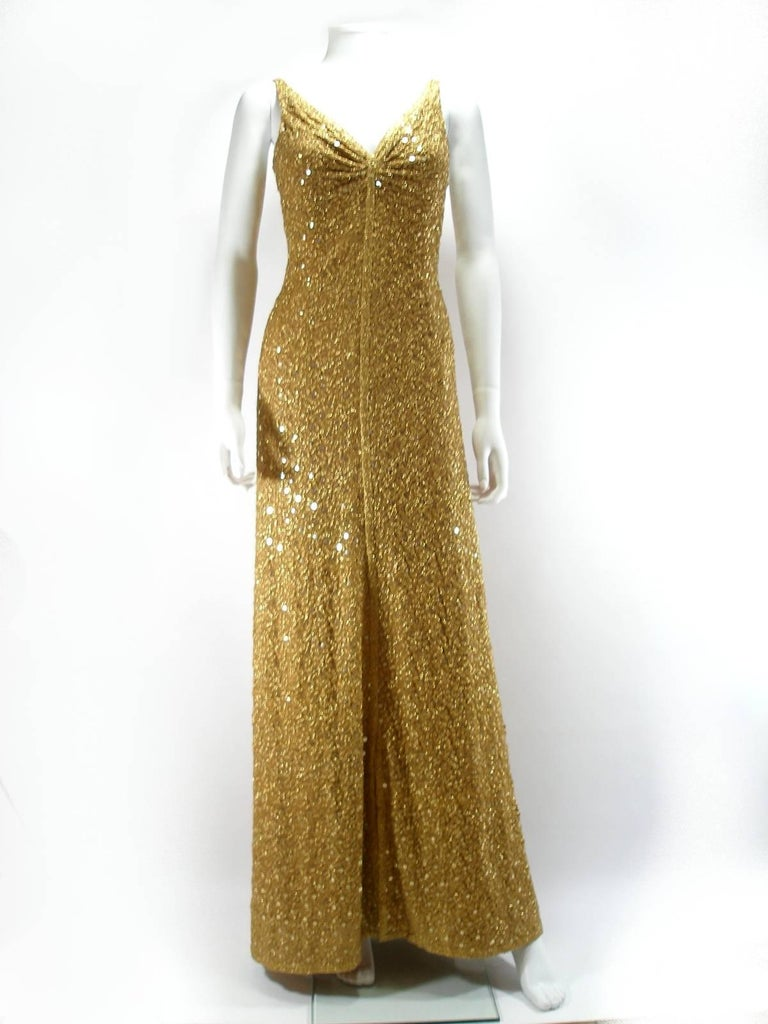 Women's Chanel Haute Couture Vintage Suite Gold Cloque Embroidered Sequins, 1977  For Sale