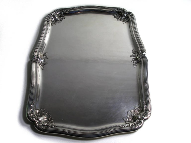 ANTIQUE French Silver Plated GALLIA by christofle Plateau Service Circa 1900 For Sale 4