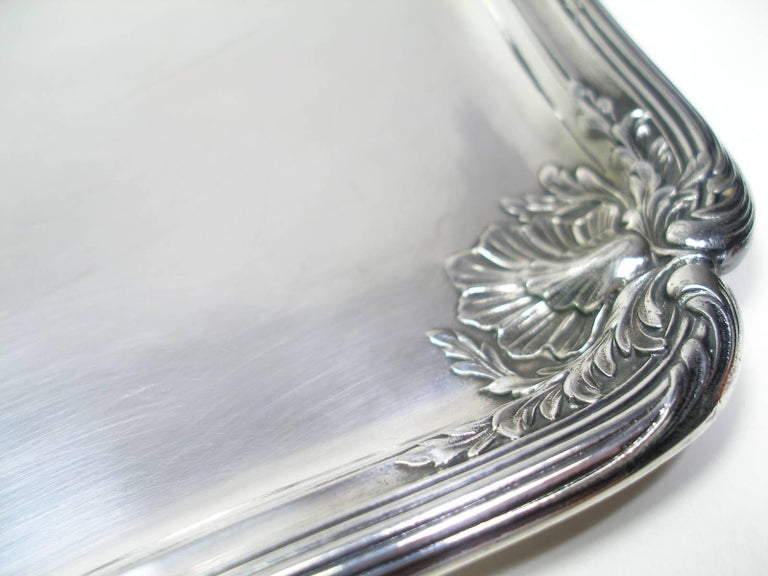 Women's or Men's ANTIQUE French Silver Plated GALLIA by christofle Plateau Service Circa 1900 For Sale