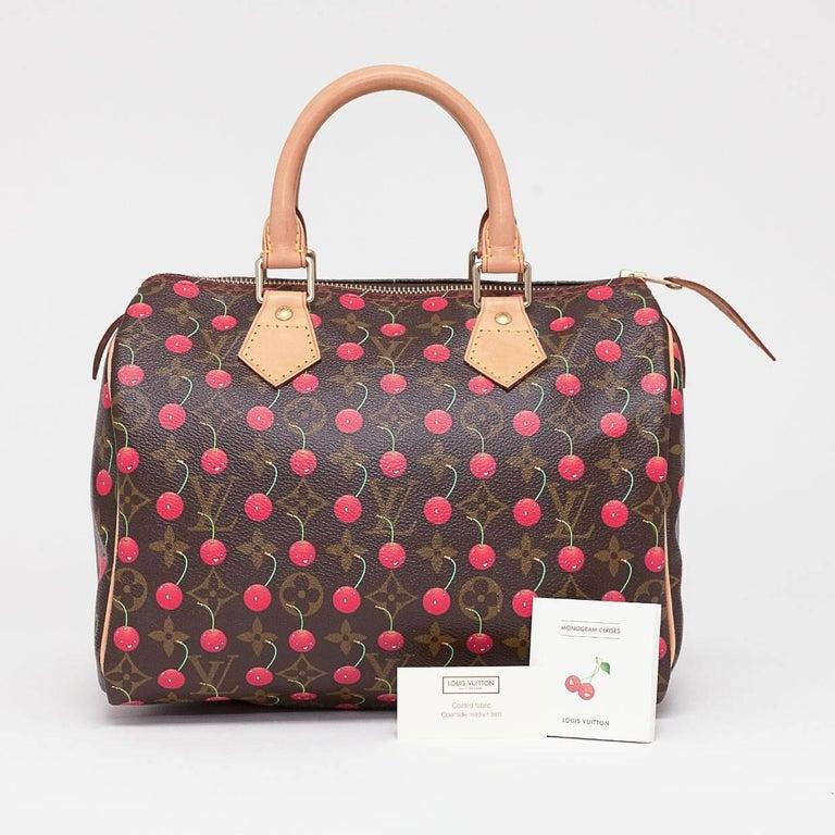Louis Vuitton Limited Edition Monogram Cerises Speedy 25