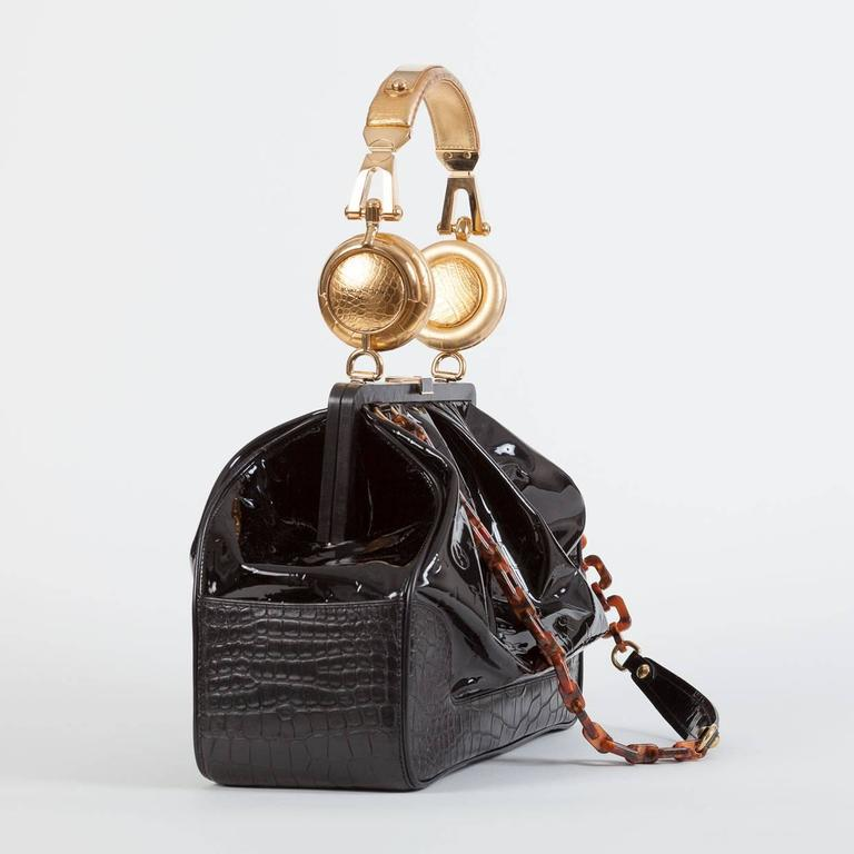 louis vuitton monogram vernis headphone bag les extraordinaires limited edition for sale at 1stdibs