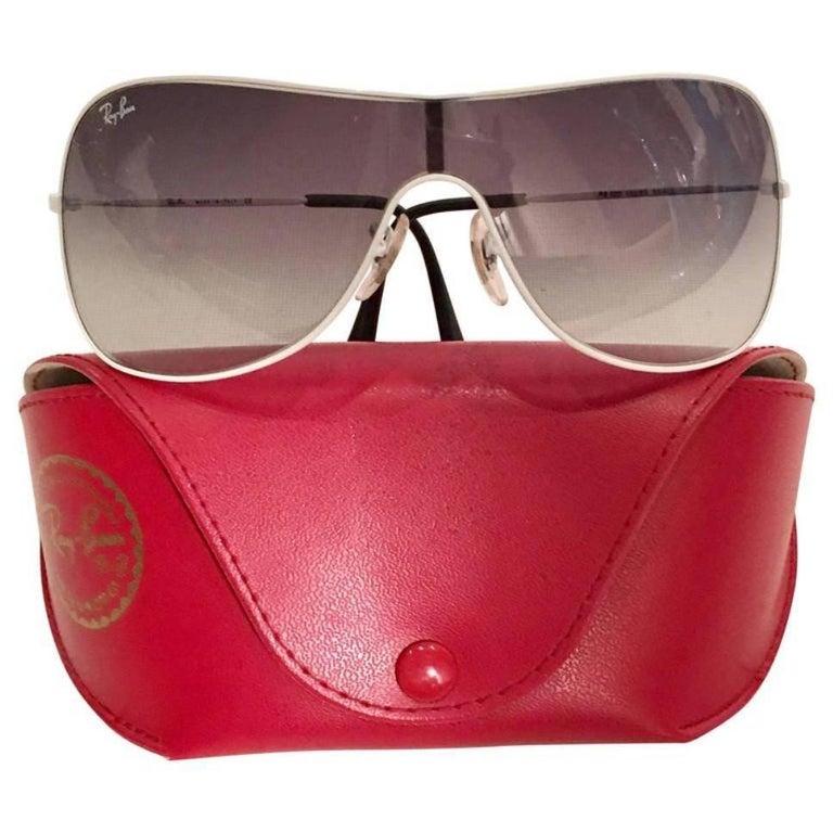 Ray Ban White Aviator Sunglasses