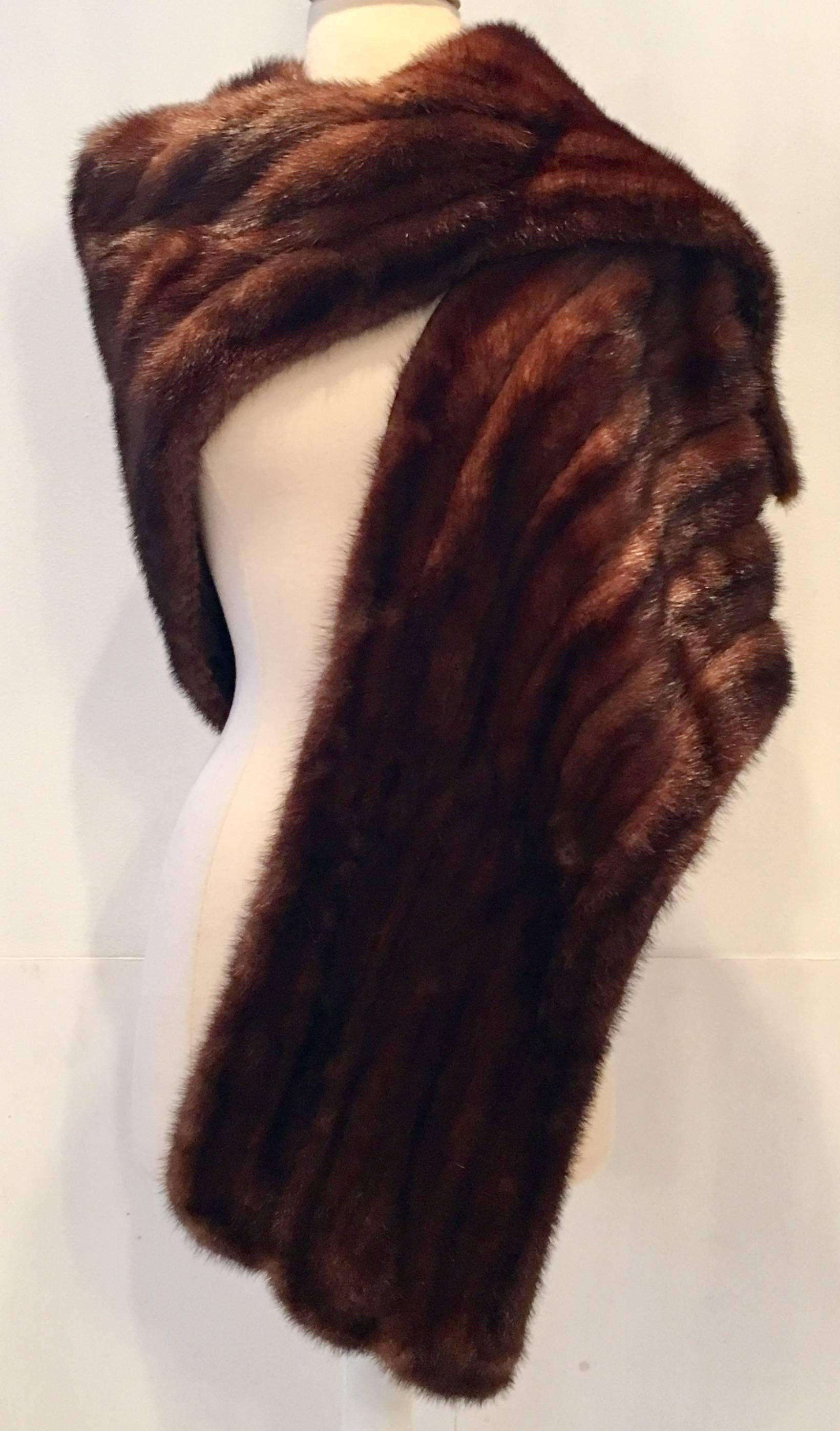 322d9e88d4 1950 S Mink Stole By Marshall Field and Company at 1stdibs