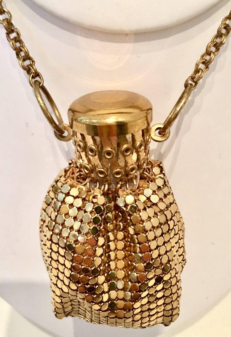 Brown 30'S Gold Metal Mesh