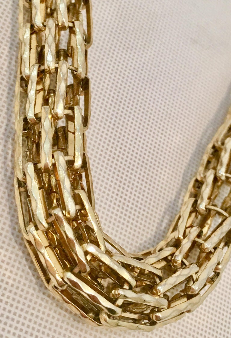 ffb0e9cdd Paolo Gucci Gold Plate Chain Link Choker Necklace For Sale 3