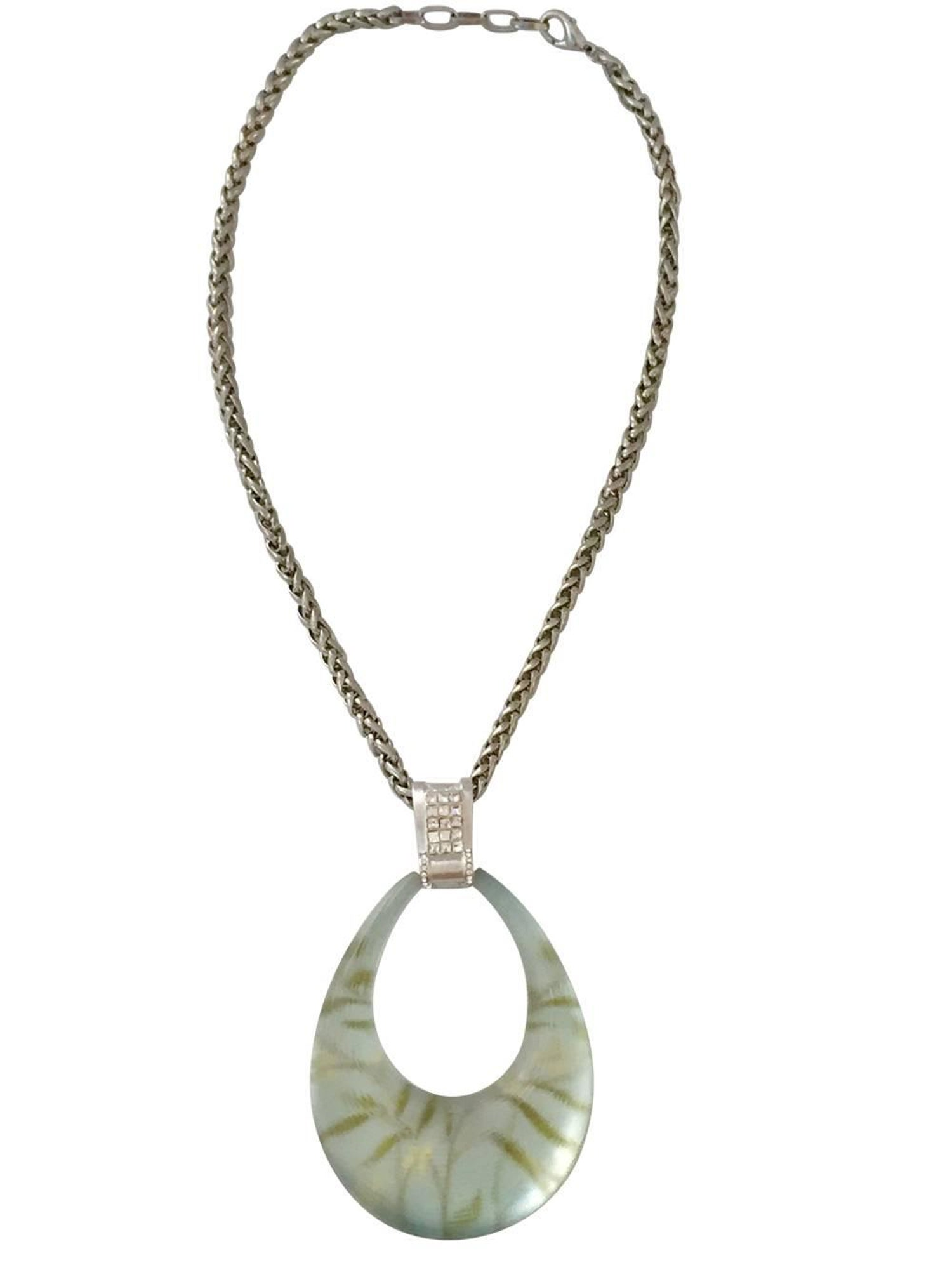 next necklace bittar previous product alexis loulerie smokey grey web snake lucite coiled