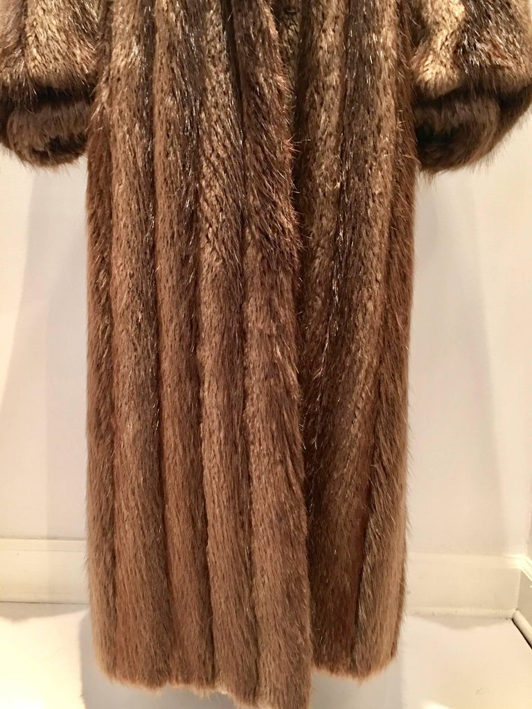 Vintage Canadian Long Hair Beaver Fur Coat At 1stdibs