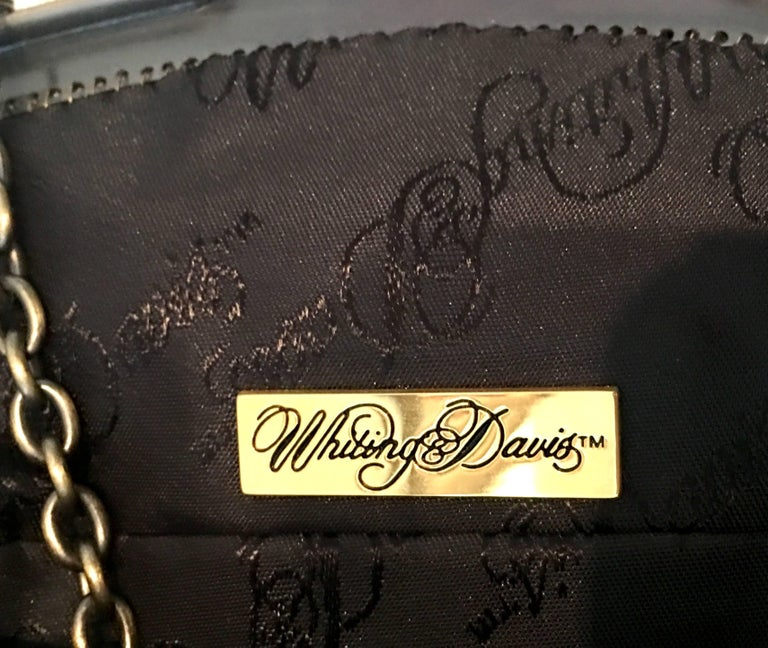 Whiting & Davis 20th Century Metal Mesh Enamel Floral Flapper Evening Bag For Sale 6