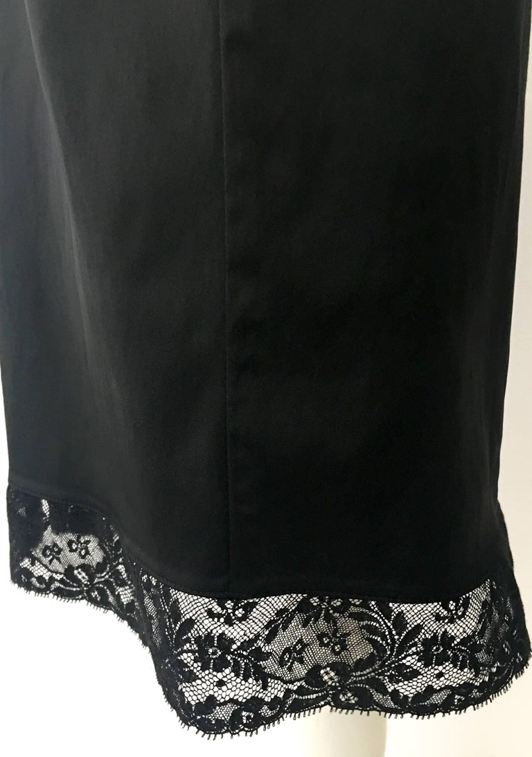 90'S Classic Dolce & Gabbana Black Fitted Slip Dress Sz-40 For Sale 6