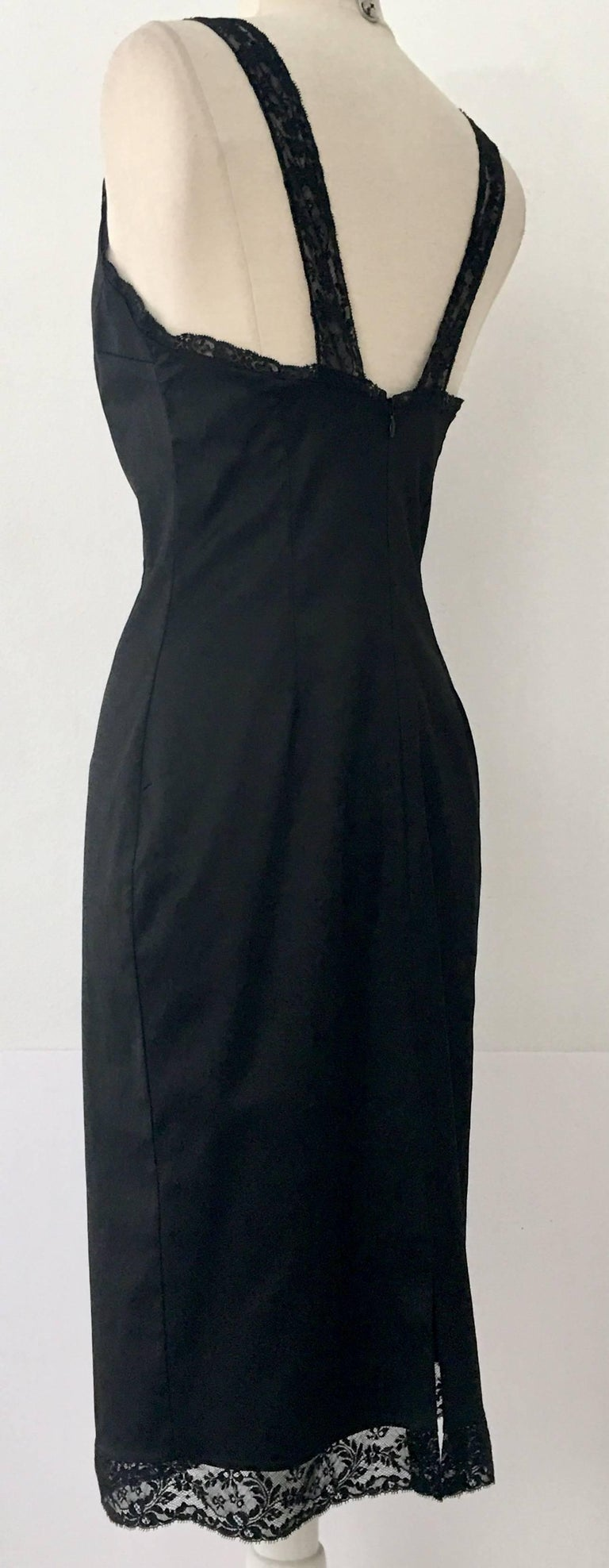 Iconic Dolce & Gabbana (D&G) Little Black Dress. This fitted stretch black