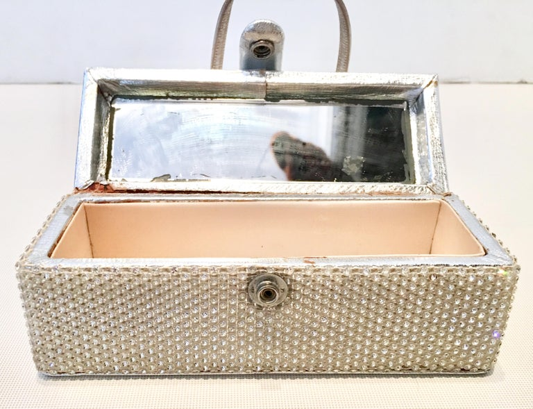 20th Century Judith Leiber Python & Swarovski Crystal Minaudiere Evening Bag For Sale 2
