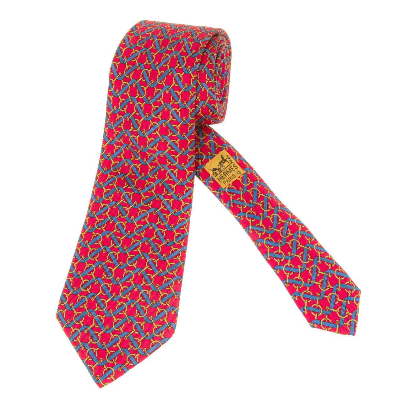 vintage hermes tie with ribbons and bits at 1stdibs