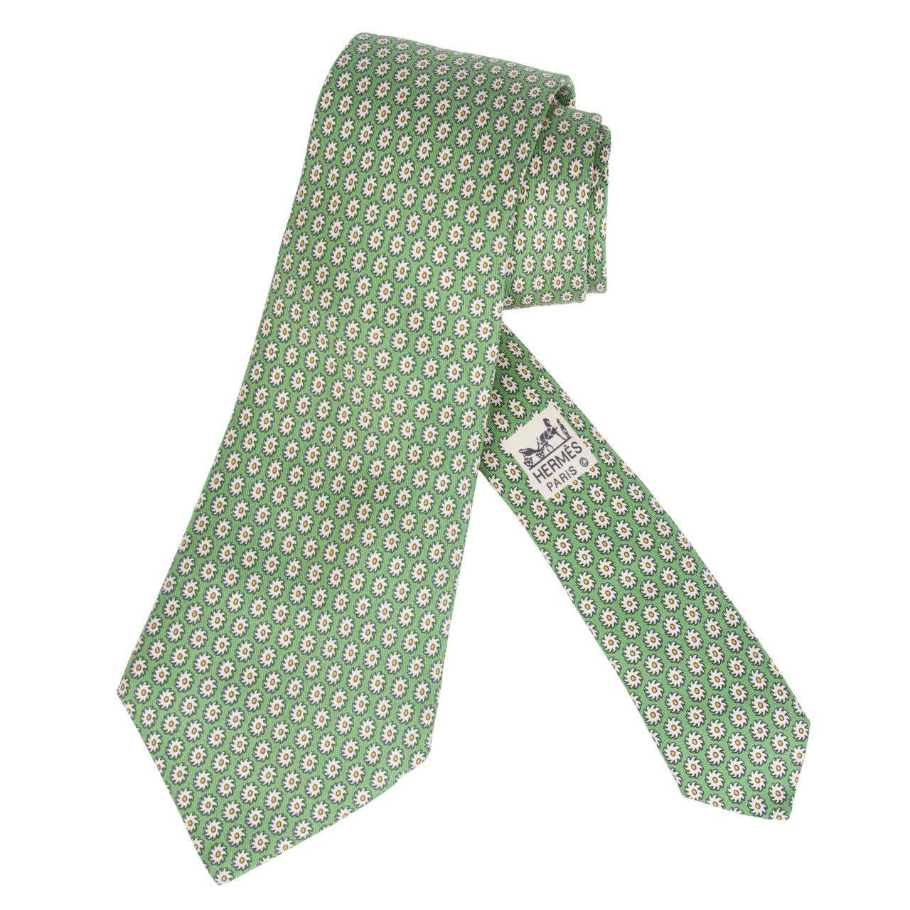 vintage hermes silk tie with repeat pattern at 1stdibs