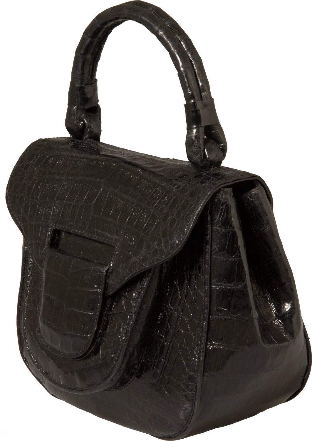 Nancy gonzalez black crocodile handbag at 1stdibs for Nancy gonzalez crocodile tote