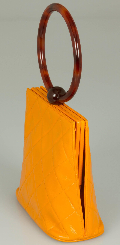 Fun Chanel Handbag With Round Handle At 1stdibs