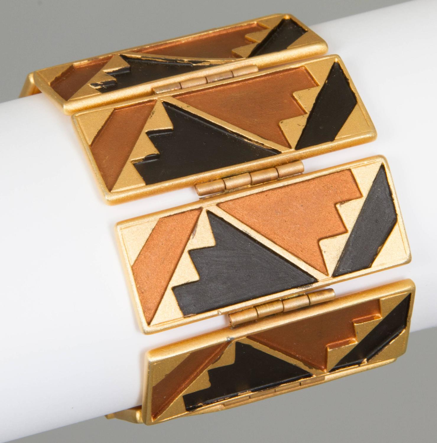 geometric art deco inspired ben amun bracelet for sale at. Black Bedroom Furniture Sets. Home Design Ideas