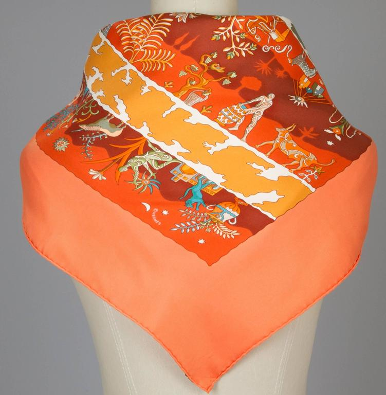 vintage silk hermes scarf quot rives fertiles quot for sale at 1stdibs