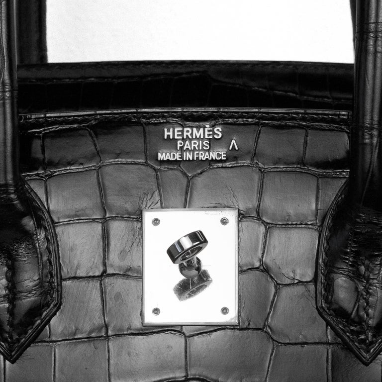 2008 Hermès Black Crocodile Birkin Bag   7