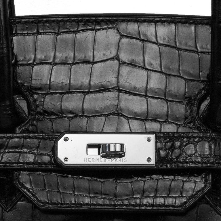 2008 Hermès Black Crocodile Birkin Bag   For Sale 2