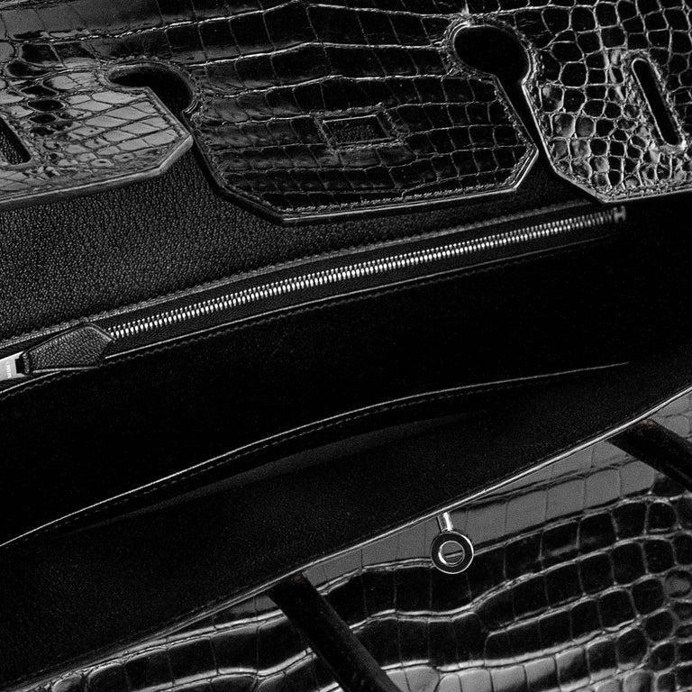 2008 Hermès Black Crocodile Birkin Bag   For Sale 6