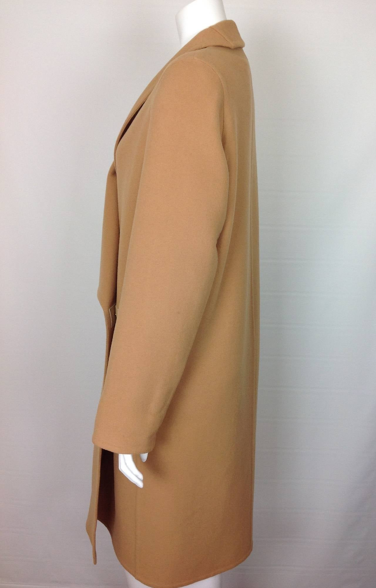 Hermes Double Faced Cashmere Wrap Coat Current At 1stdibs