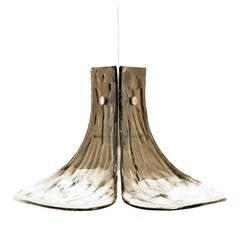 Murano Flower Petal Glass Pendant by Carlo Nason for Mazzega