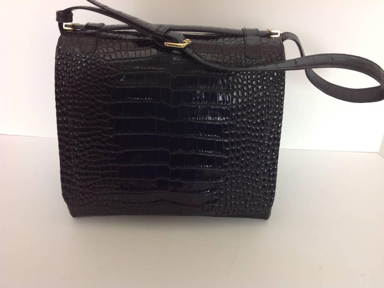 Dries Van Noten bold embossed leather handbag 4