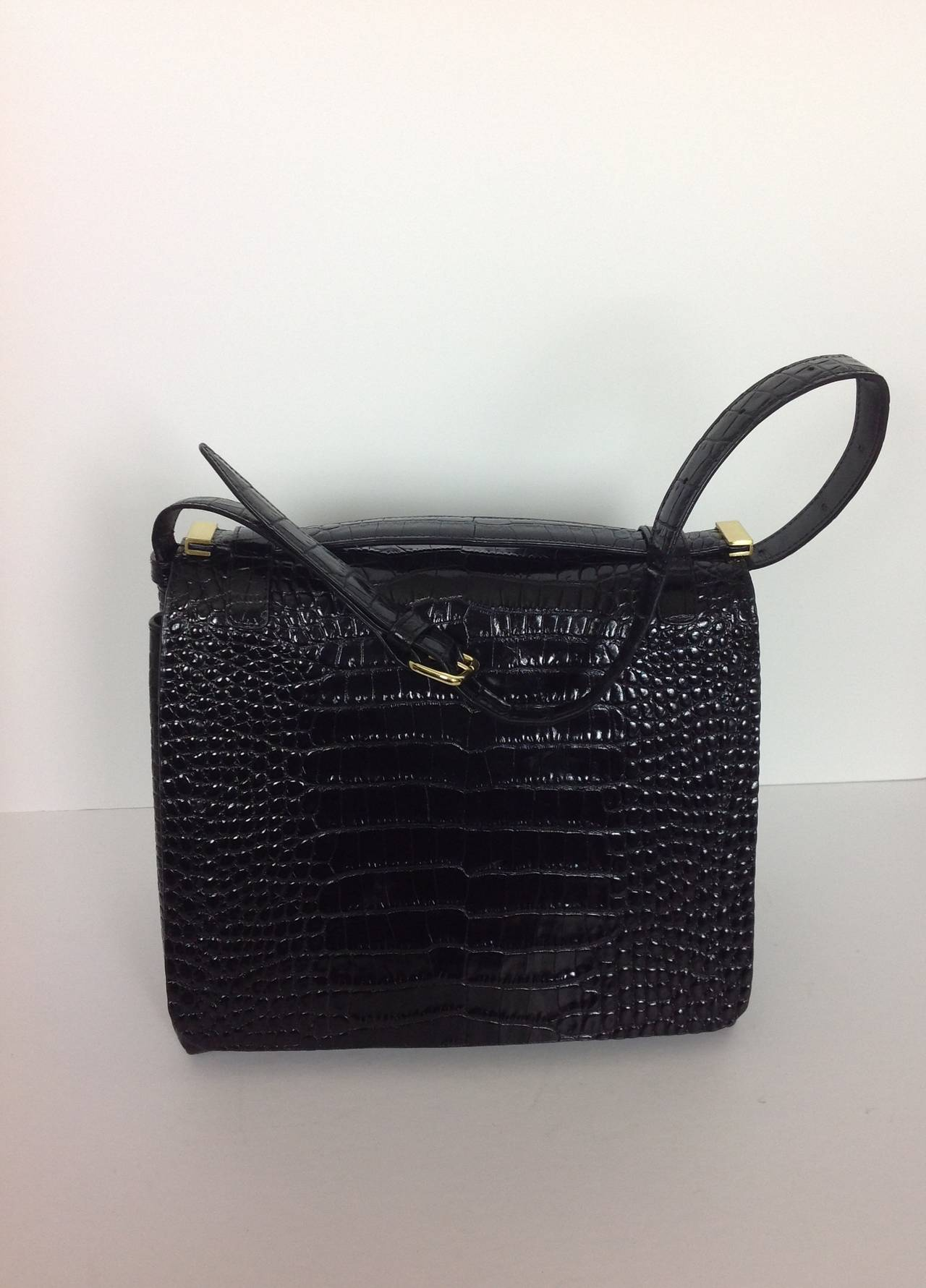 Dries Van Noten bold embossed leather handbag 2