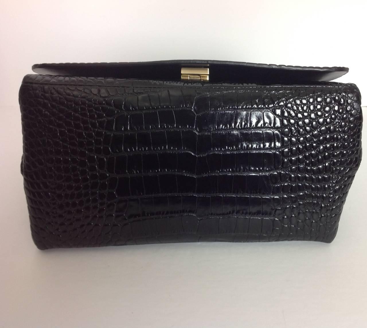 Dries Van Noten bold embossed leather handbag 3