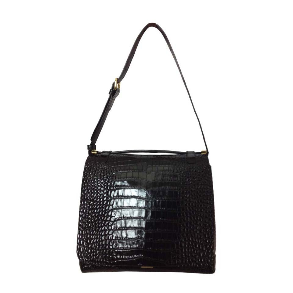 Dries Van Noten bold embossed leather handbag 1