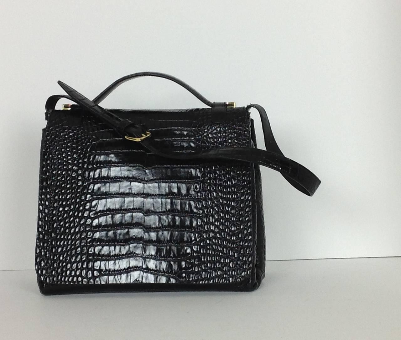 Dries Van Noten bold embossed leather handbag 6