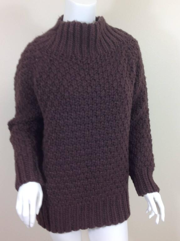Aubergine cashmere basket weave The Row sweater    Size S 2