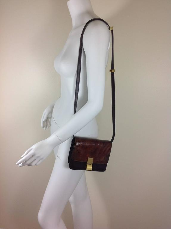 celine stingray box bag s9a2  Lizard and leather Celine box bag 3