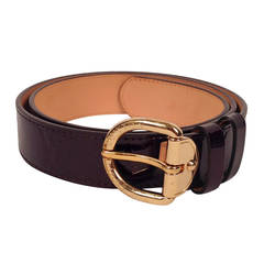 Louis Vuitton Amarante Vernis Monogram Belt