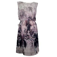 Valentino Abstract Screen Print Sleeveless Dress