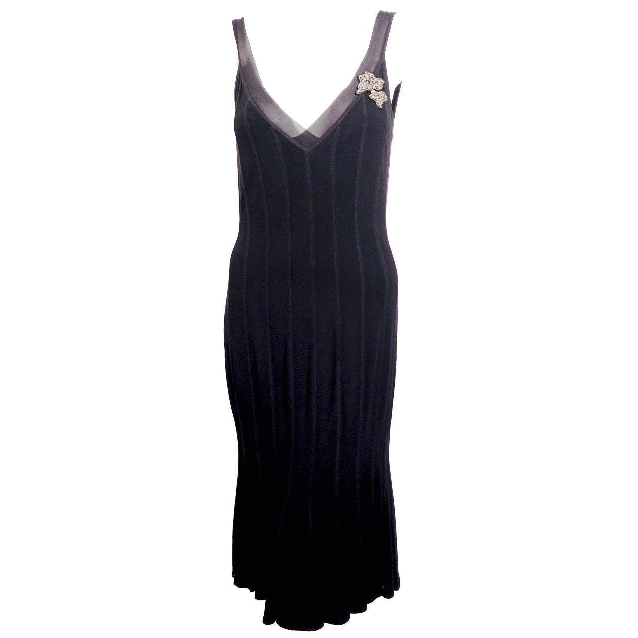 Blumarine Sleeveless Stretch Sheath Dress With Trumpet Hem