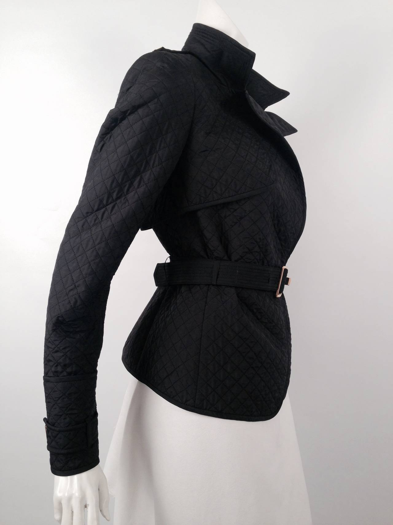 c707e328838 Yves Saint Laurent Rive Gauche Diamond Quilted Jacket In Excellent  Condition For Sale In Palm Beach