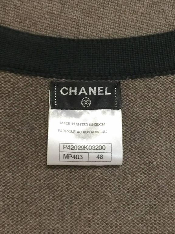 Chanel  Color Blocked Cashmere Long Cardigan  5