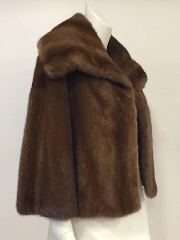 Black Mary McFadden Furs Brown Platinum Fur Mink Coat  For Sale