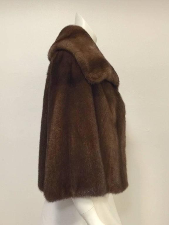 Mary McFadden Furs Brown Platinum Fur Mink Coat  For Sale 1