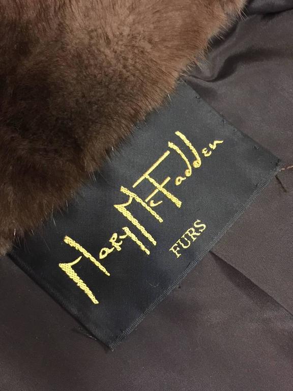 Mary McFadden Furs Brown Platinum Fur Mink Coat  For Sale 2