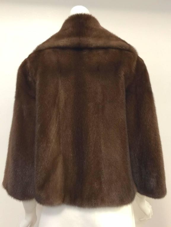 Women's Mary McFadden Furs Brown Platinum Fur Mink Coat  For Sale