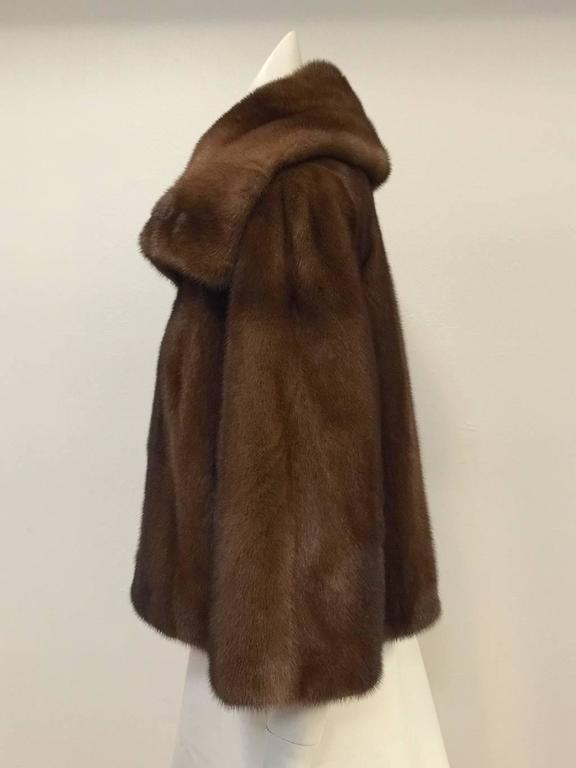 Mary McFadden Furs Brown Platinum Fur Mink Coat  In Excellent Condition For Sale In Palm Beach, FL