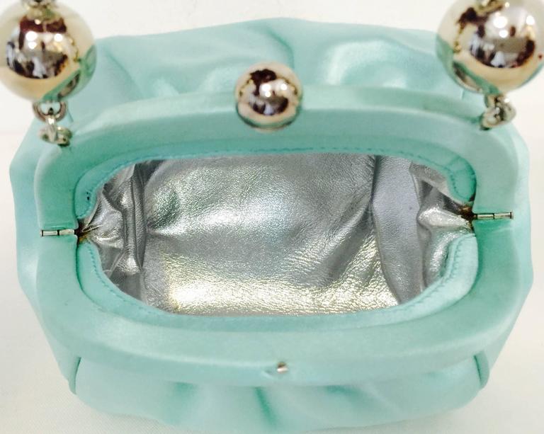 Tiffany And Co Tiffany Blue Bracelet Evening Bag At 1stdibs